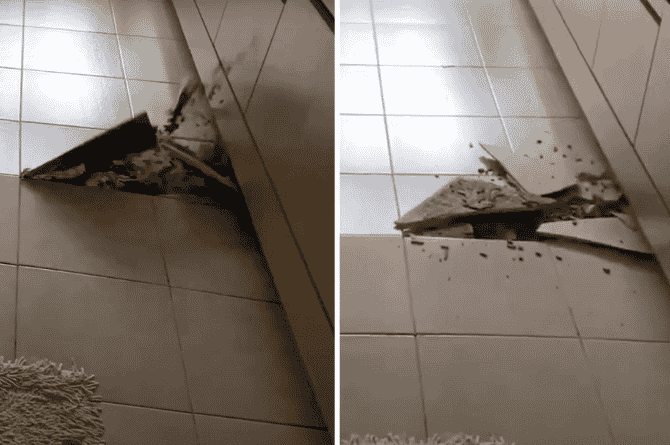 what causes tiles to pop up