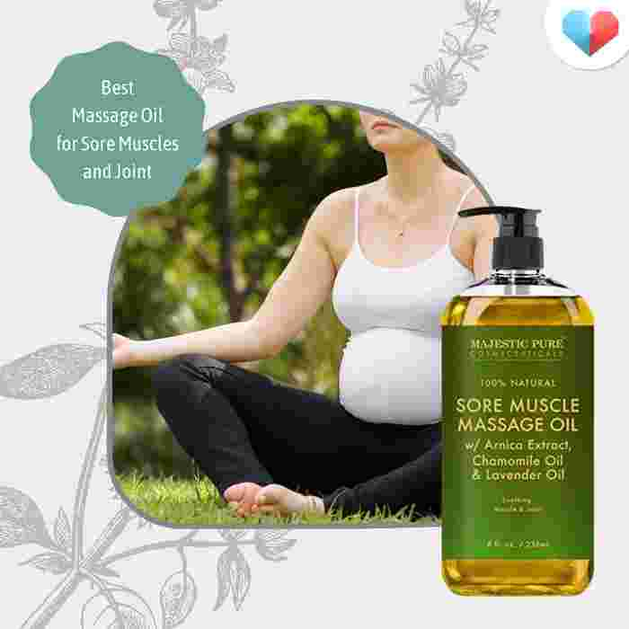 Arnica Sore Muscle Massage Oil - Best massage oil for sore muscles and joints
