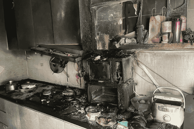 what to do in case of fire at home