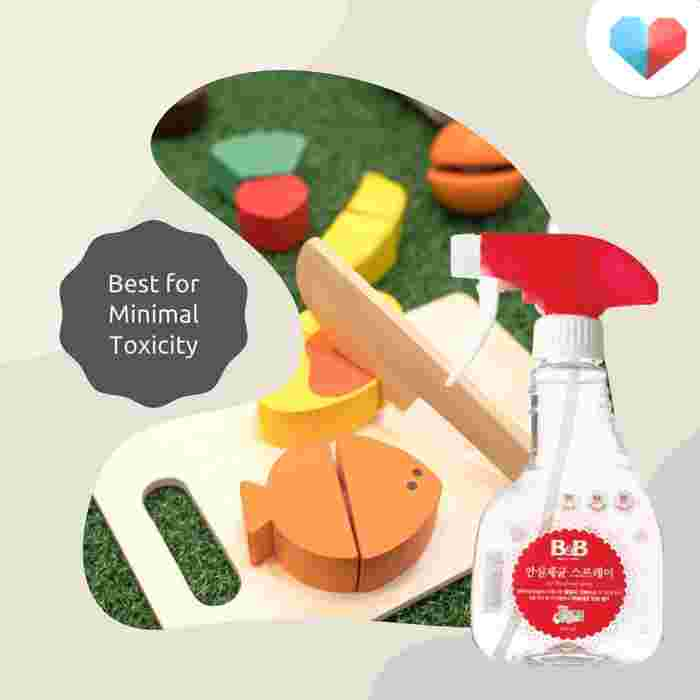 Baby & Basic Safe Disinfectant Spray: Best for minimal toxicity