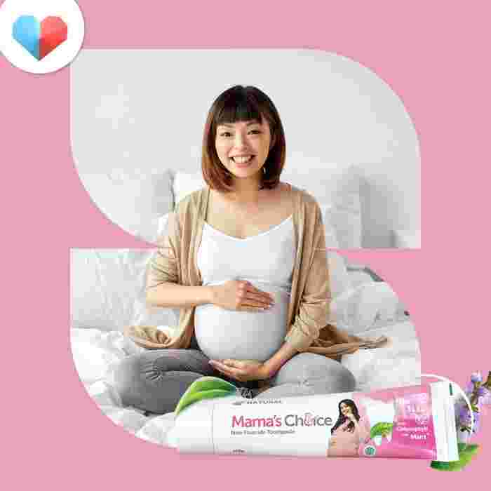 Mama's Choice Non-Fluoride Toothpaste - Best Pregnancy Toothpaste for Breastfeeding Mums
