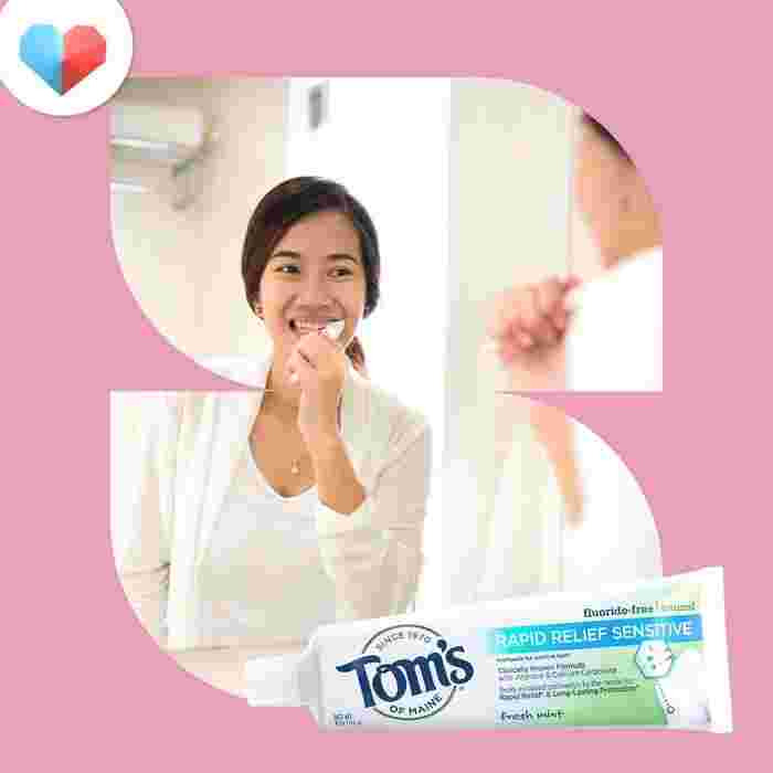 Tom's of Maine Fluoride-Free Rapid Relief Sensitive Toothpaste - Best Pregnancy Toothpaste for Sensitive Teeth