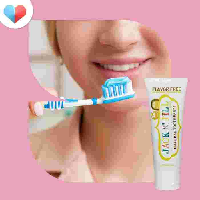 Jack n' Jill, Natural Toothpaste, Flavour free - Best Flavourless Pregnancy Toothpaste