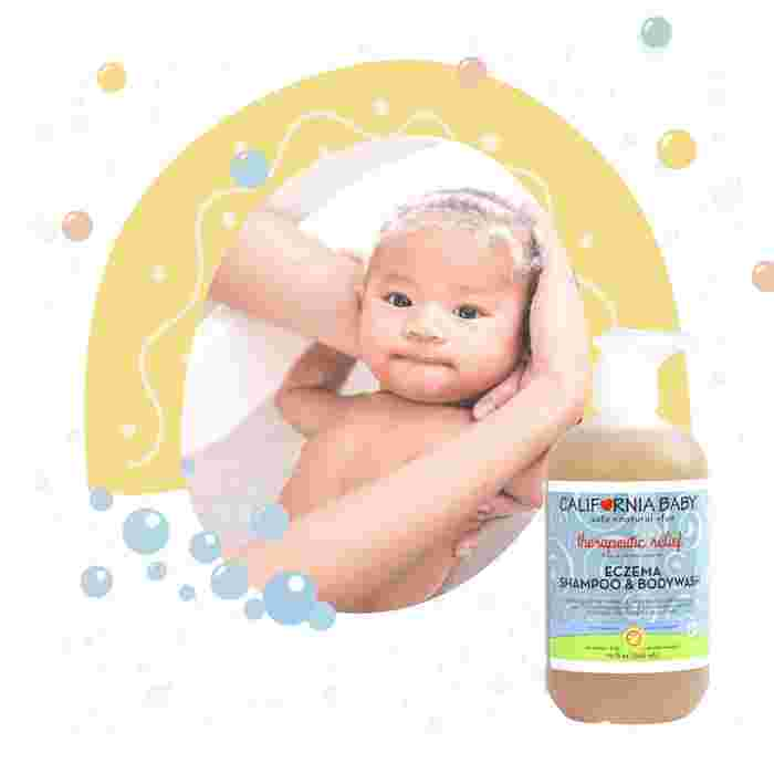 California Baby Therapeutic Relief Eczema Shampoo and Body Wash - Best Baby Wash with Plant-Based Ingredients