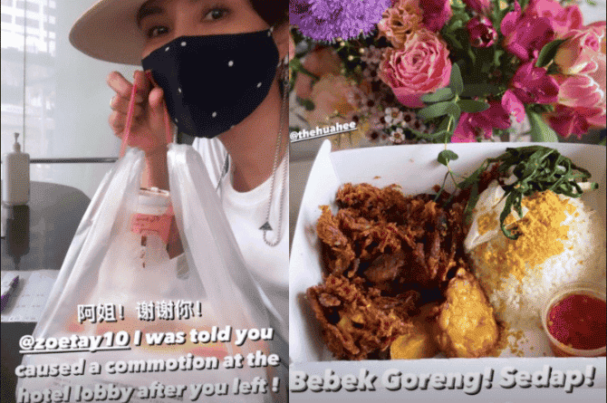 Sharon Au's Serving Quarantine At Orchard Hotel, Zoe Tay Causes 'Commotion' After Sending Food To Her