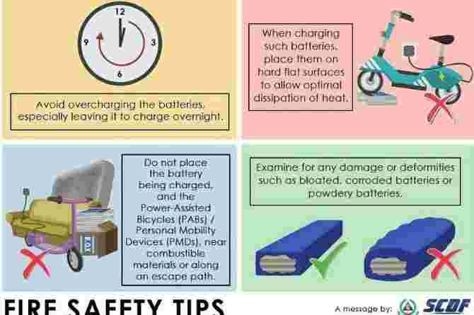 pmd fire safety tips