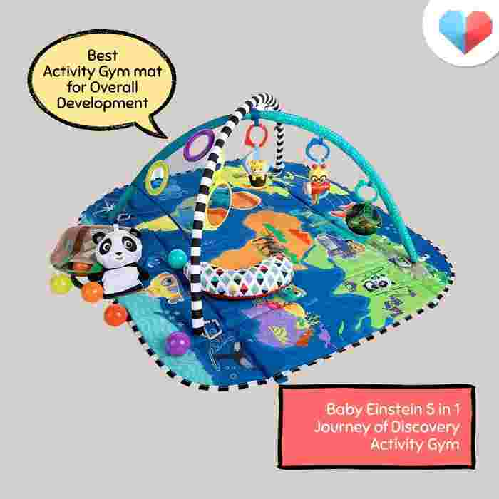 Baby Einstein 5-in-1 Journey of Discovery Activity Gym: Best Activity Gym Mat for Overall Development
