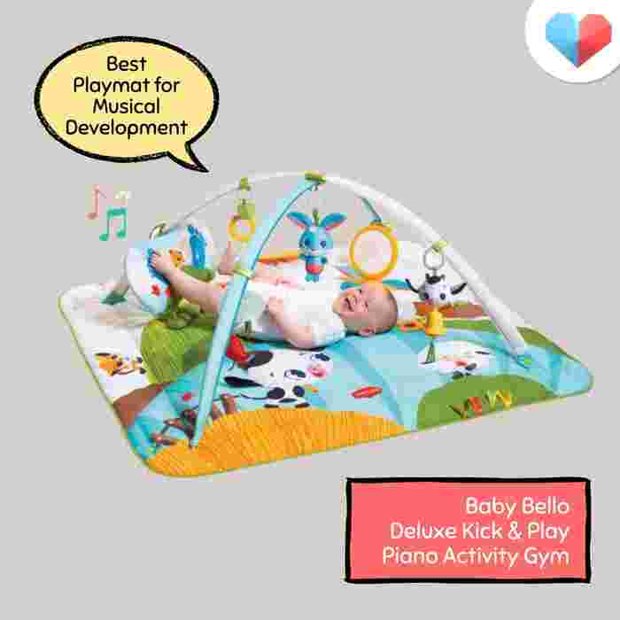 Baby Bello Deluxe Kick & Play Piano Activity Gym: Best Playmat for Musical Developmen