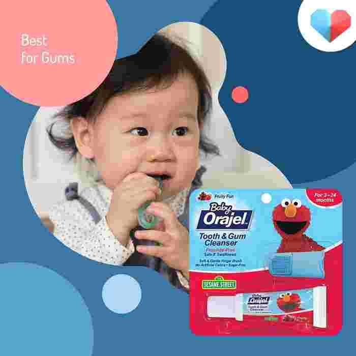 Orajel Baby Elmo Tooth and Gum Cleanser with Finger Brush - Best for Gums