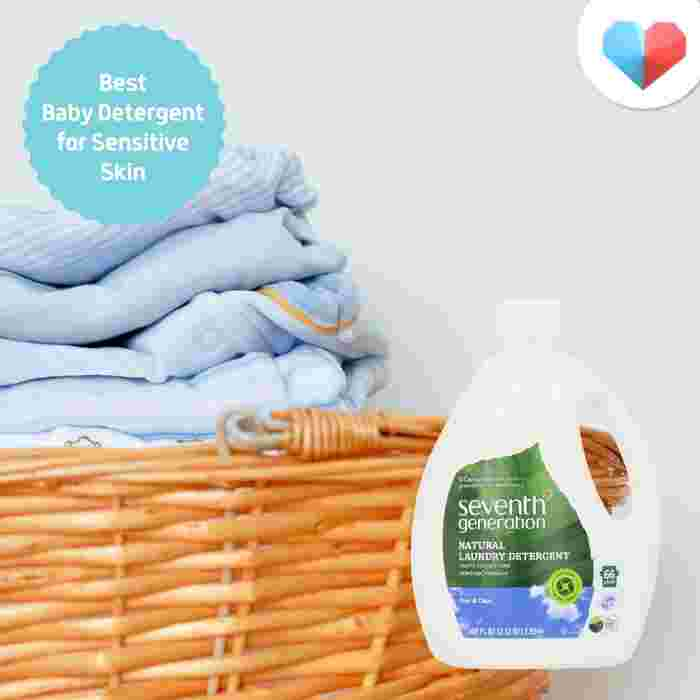 Seventh Generation Free & Clear Laundry Detergent - Best Baby Detergent for Sensitive Skin