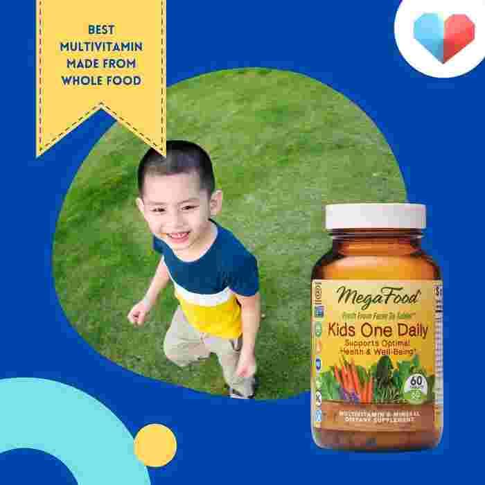 MegaFood Kids One Daily Multivitamin and Mineral Dietary Supplement - Best Multivitamin Made from Whole Food