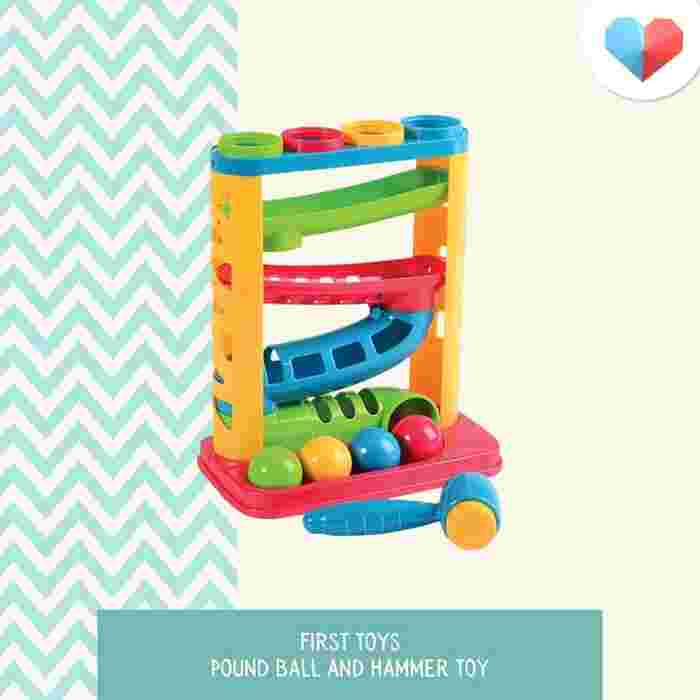 First Toys Pound Ball and Hammer Toy - Best for Dexterity