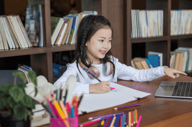 creating a workspace at home for students