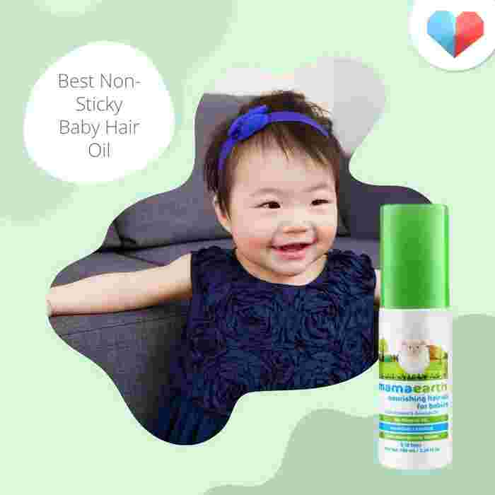 Mamaearth Nourishing Hair Oil: Best non-sticky baby hair oil