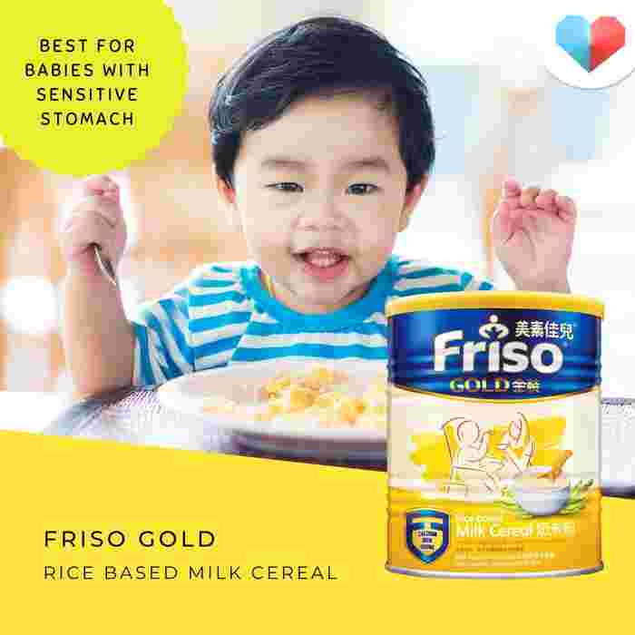 Friso® Gold Rice-based Milk Cereal: Best for babies with sensitive stomachs