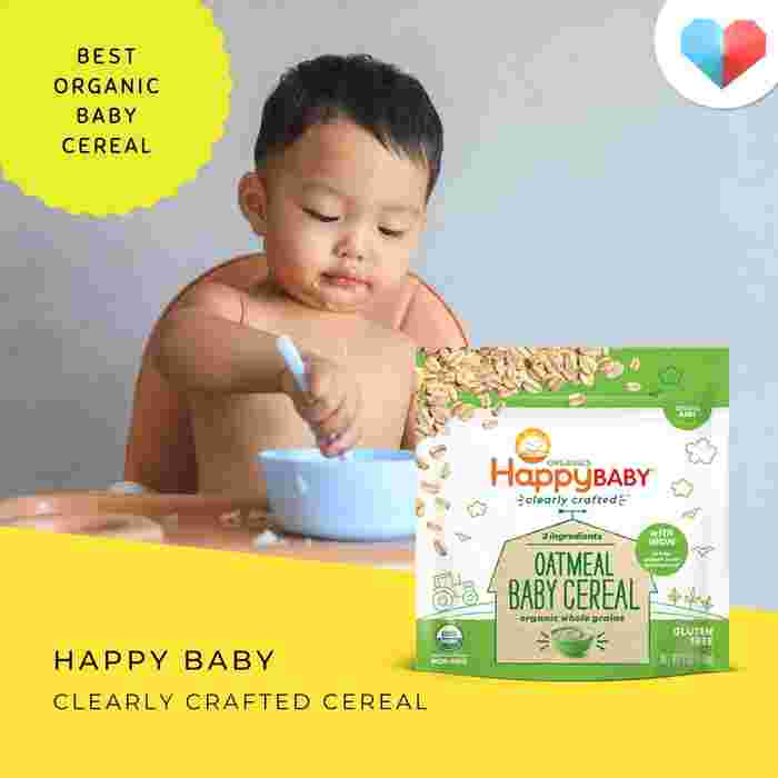 Happy Baby Clearly Crafted® Cereal: Best organic baby cereal