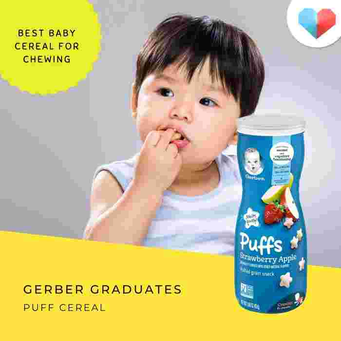 Gerber Graduates Puff Cereal: Best baby cereal for chewing