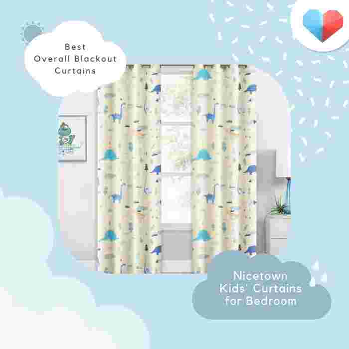 Nicetown Kids' Curtains for Bedroom: Best Overall Blackout Curtains