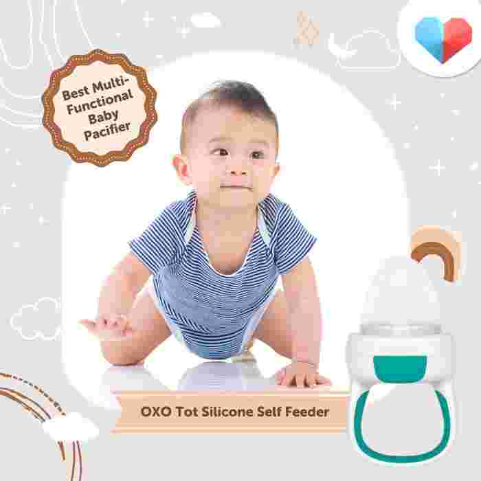 OXO Tot Silicone Self-Feeder - Best Multi-Functional Baby Pacifier