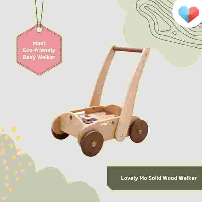 Lovely Mo Solid Wood Walker Review Most Eco-Friendly Baby Walker