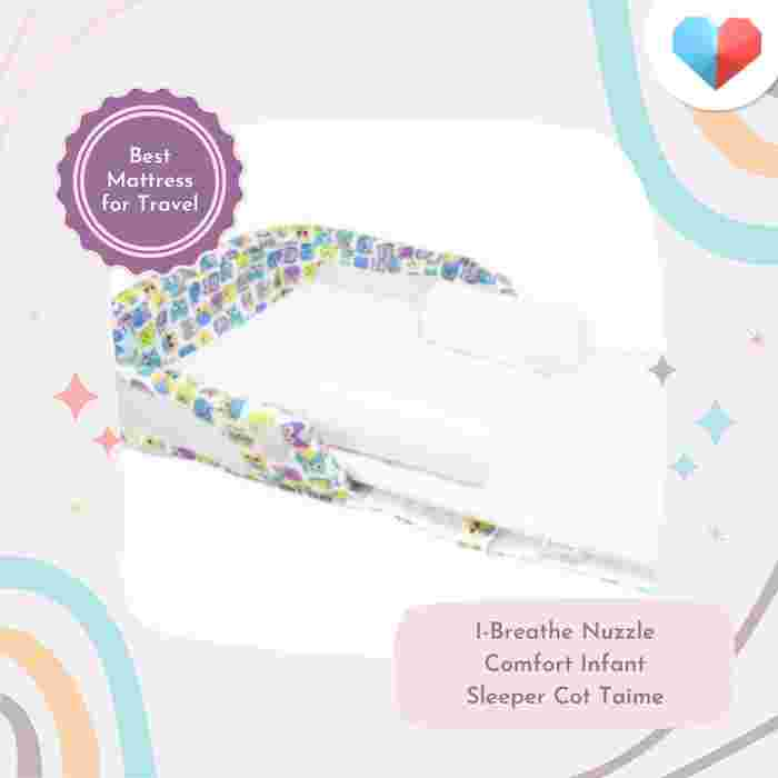 I-Breathe Nuzzle Comfort Infant Sleeper Cot Taime Review Best Mattress for Travel