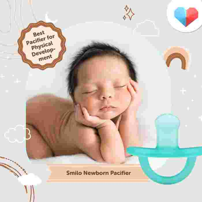 Smilo Newborn Orthodontic Pacifier - Best Baby Pacifier for Physical Development