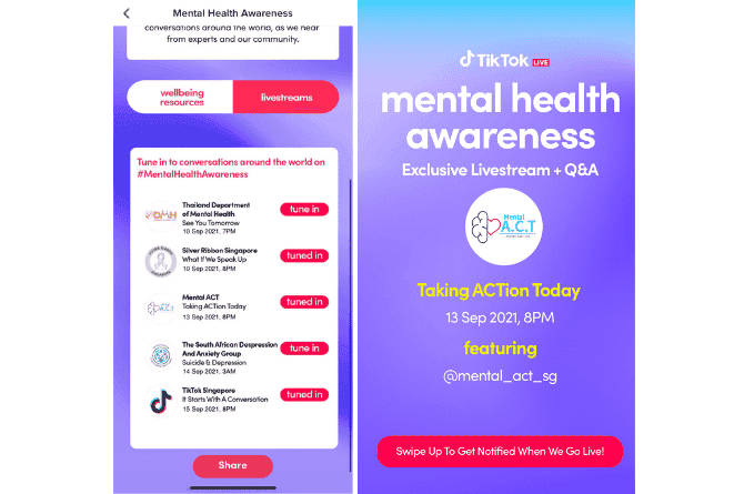 TikTok Invites Singaporeans To Start A Conversation About Mental Health, With Latest #MentalHealthAwareness Campaign
