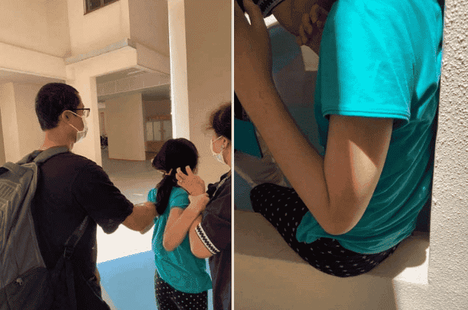 parents beating their child