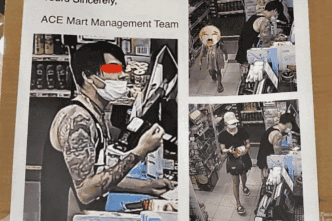 'We Don't Wish To See Your Child Learn The Wrong Things': Yishun Mini-Mart To Couple Caught Stealing Groceries On CCTV