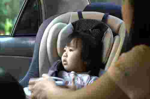 baby in car seat 1