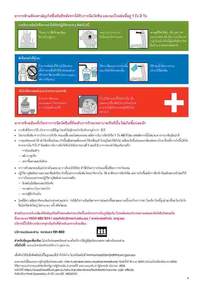 1305018_Vaccine side effects_V2_2ppA4_Thai - PDF_Page2