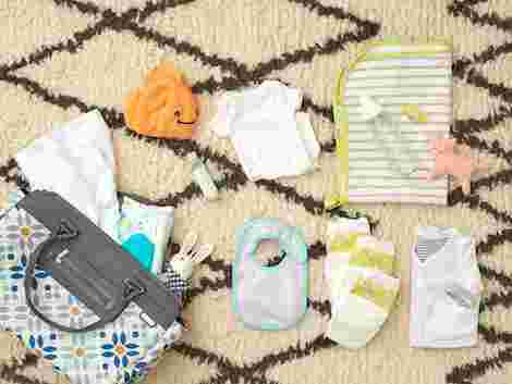 baby clothes in diaper bag