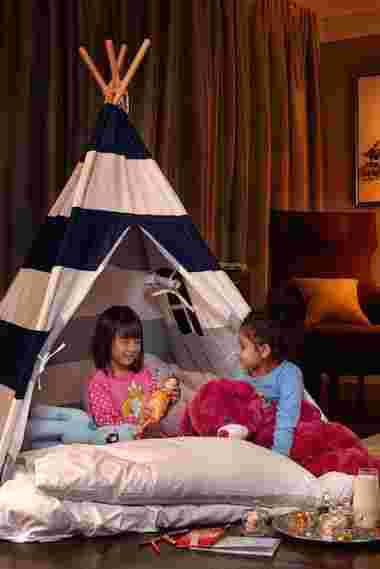 St. Regis Langkawi - Tipi Tent and welcome amenities for children