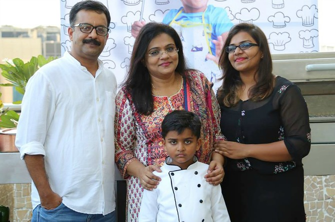 Nihal Raj seen here with his family | Image courtesy: Onlookers Media