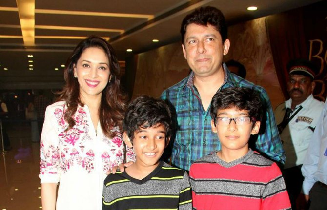 madhuriwith sons