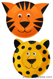 paperplateanimals tigerleopard Fun Kid Projects: Paperplate Animals