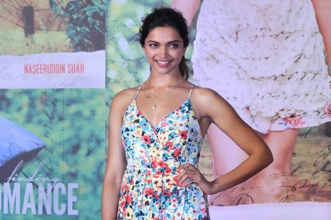 Bollywood actor Deepika Padukone during the song launch of film Finding Fanny in Mumbai, India on August 11, 2014. (Pravin Utturkar/SOLARIS IMAGES)