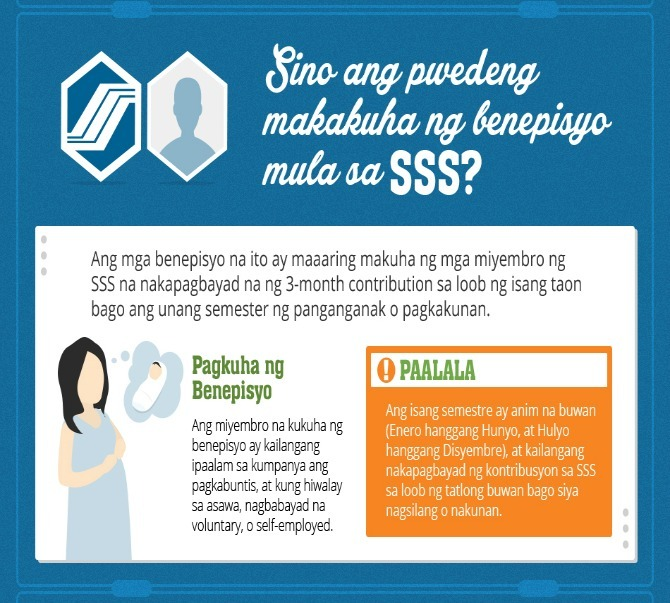 SSS maternity benefits