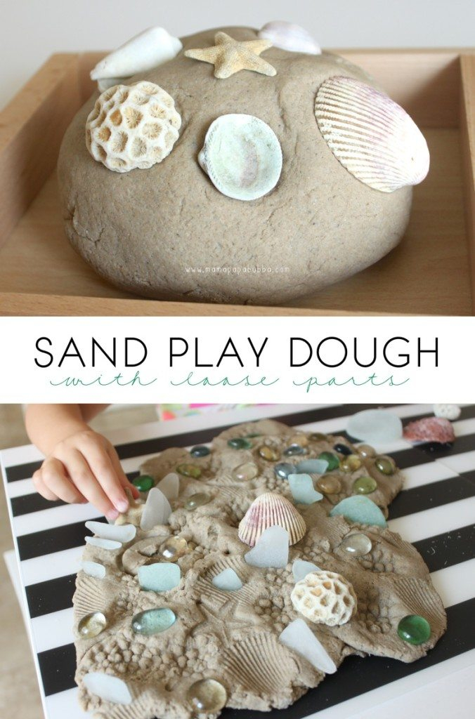 ocean sand play dough