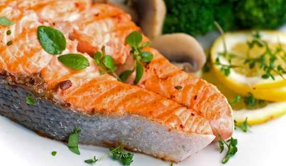 Double Cooked Salmon with a Twist of Orange Seafood Recipe DRW Heart healthy Salmon that your kids will love