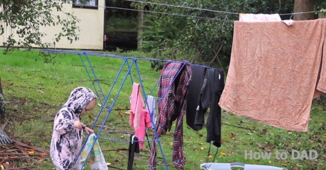 hang the clothes