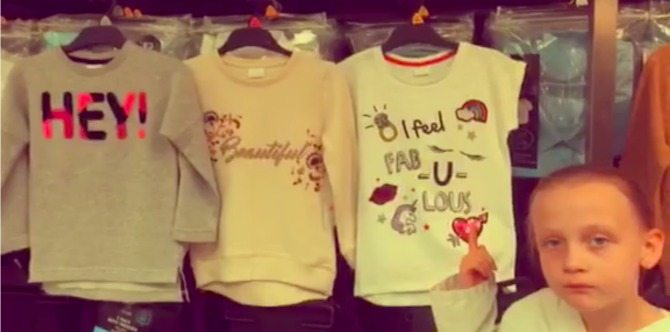 daisy WATCH: 8 year old girl's impassioned rant about sexism in children's clothes