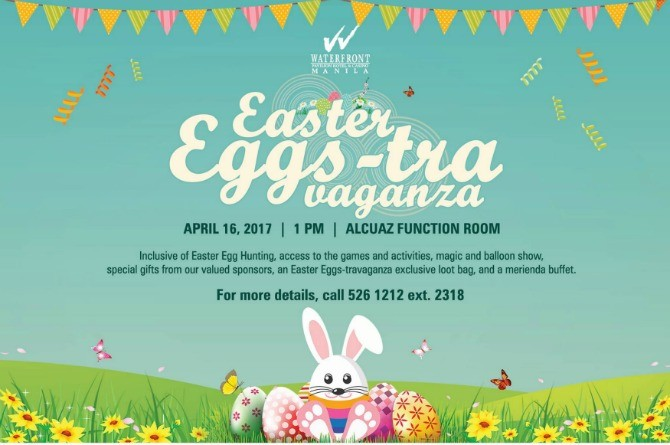 Awesome easter egg hunt destinations in metro manila waterfront hotel easter eggs travaganza negle Images