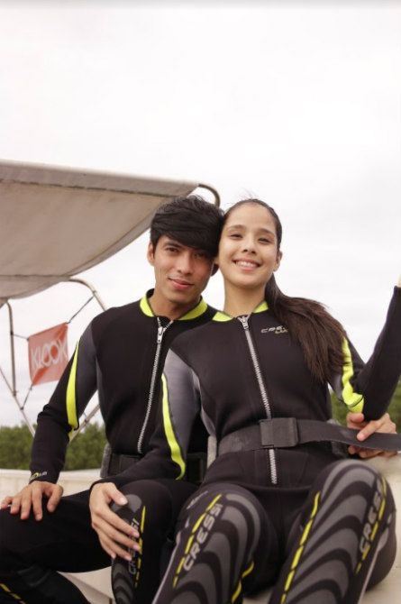 maxene diving 2 Want to make travelling with 'the one' extra fun? Take your cue from Maxene Magalona and fiancé Robby Mananquil