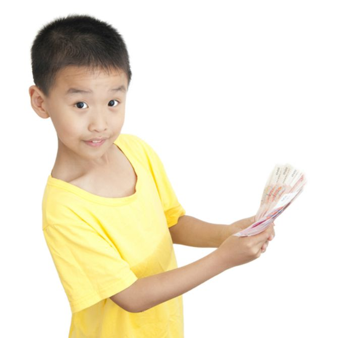 Always give your child money