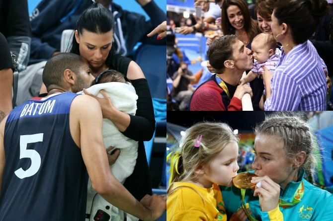 """13 Touching photos of olympians being """"gold medal"""" parents"""
