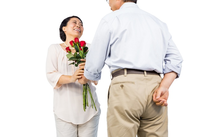 18. Give her roses