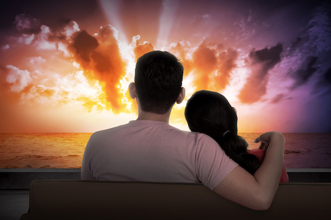 8. Give her your warm shoulder when you're watching a film together.