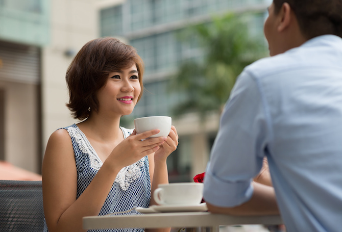 11. Take her to a lovely café when she's upset and offer her the best dessert there is.