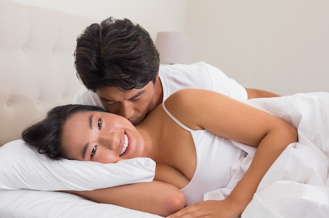 3. Cuddle with her after making love